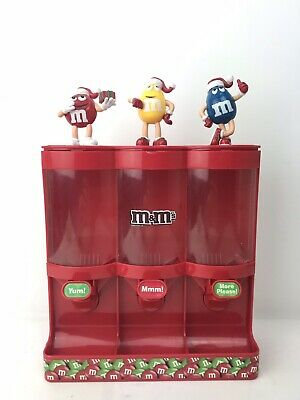 M&M's Mars 2008 Christmas Holiday Triple Chocolate Candy Dispenser