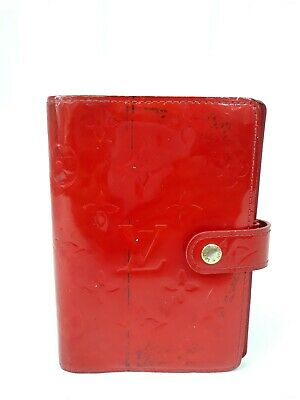 Authentic Louis Vuitton Vernis Agenda Notebook Cover Mini Red