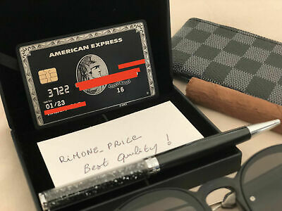 American Express Centurion Black Card  Metal With Chip And Box Costumized Rare