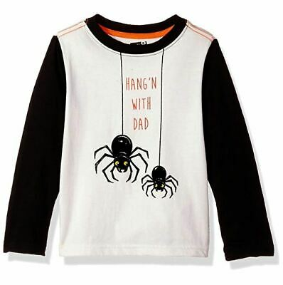Crazy 8 Boys Toddler Lil Long-Sleeve Spider Graphic Tee, Jet Ivory, 18-24 Months