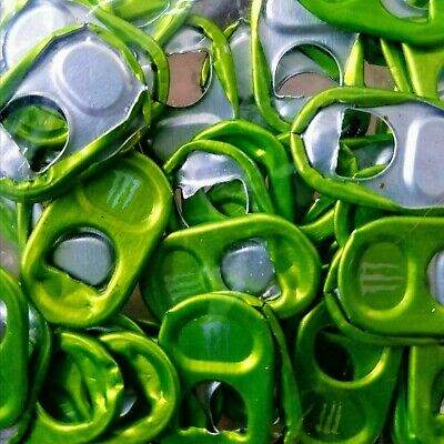 "40 Monster Energy Drink Can Pull Tabs ""Unlock the Vault"" - Green Monster Tabs"