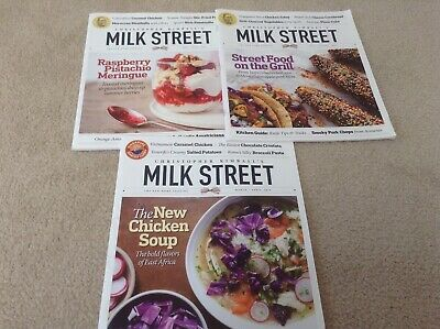 Christopher Kimball Milk Street Magazine 2018 Home Cooking 3 Issues Free Ship