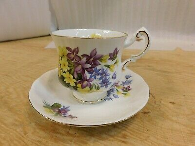 """Paragon, """"flower festival c"""" tea cup with saucer, made in england"""