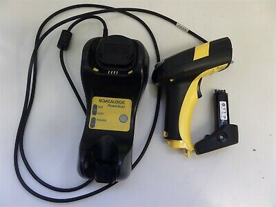 Datalogic Powerscan M8300 910 MHz Barcode Scanner w/ Charger & Battery AS IS