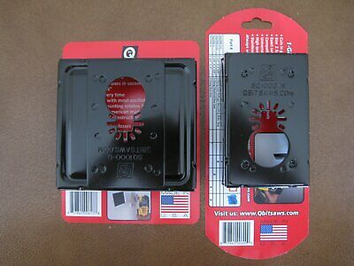 NEW QBit 1 + 2 Gang Double Oscillating Tool Saw Blade Cut Wall Outlet Boxes