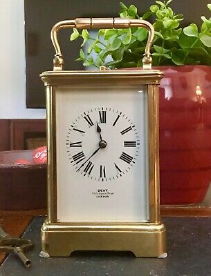 Rare REPEATER CARRIAGE CLOCK 1800's DENT of LONDON Antique France 8-Day Striking
