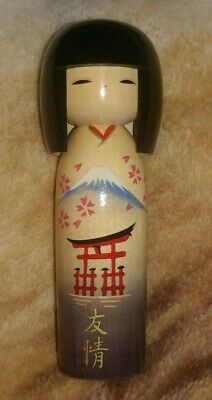 18cm Japanese Vintage Wooden Traditional KOKESHI Statue Very Beautiful And Rare