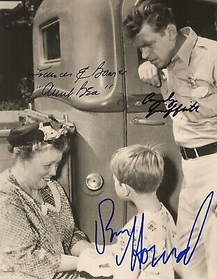 Andy Griffith Frances Bavier Ron Howard SIGNED 8x10 The Andy Griffith Show