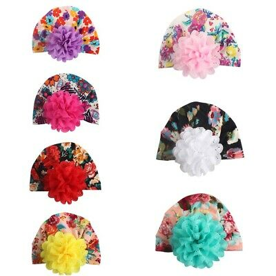 Toddler Newborn Baby Girl Turban Print Flower Beanie Hat Head Wrap Soft Warm Cap