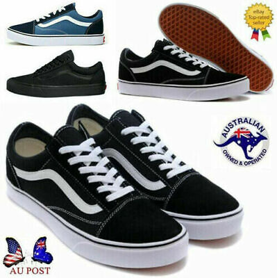 New Van s Old Skool Skate Shoes Classic Canvas Sneaker Black White All Sizes Hot