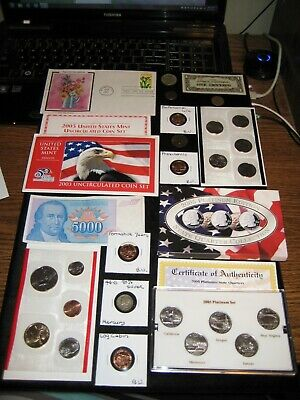 JUNK DRAWER Coin Lot 2003 Mint Set Lot 2005 PLATINUM Quarter Silver Coin JAPANES