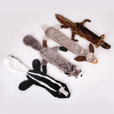 Dog Toy Play Squirrel Animal Pet Puppy Chew Squeaker Squeaky Plush Sound Toys