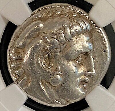 Alexander The Great 325-320BC Sardes Ancient Greek Silver Tetradrachm NGC 17.1g