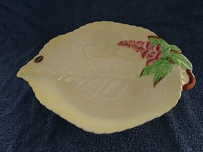 Vintage 1930s-1940s Carlton Ware Yellow Foxglove Footed Bowl