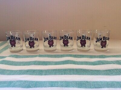 JIM BEAM. SHOT GLASSES - SET of 6