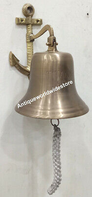 Nautical Ship Bell Door Bell Wall Mount / Hanging Marine Office Decor Ship  Bell