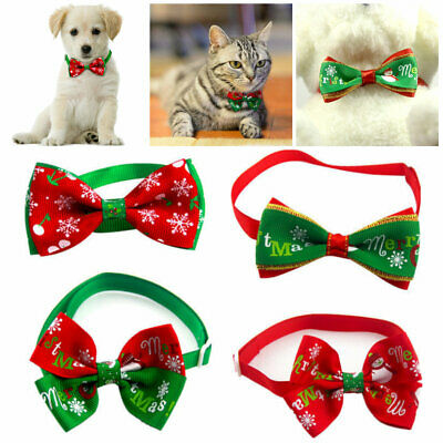 Cute Christmas Dog Cat Pet Puppy Bow knot Necktie Collar Bow Tie Clothes Hot