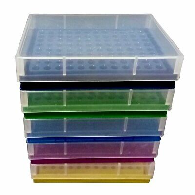 PUL FACTORY Plastic 96-Well PCR Rack for 0.2ml Micro Centrifuge tube, Assorted c