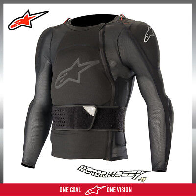 Pettorina Alpinestars Sequence Protection Jacket Long Sleeve Nero Tg. L