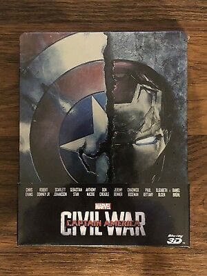 MARVEL CAPTAIN AMERICA: CIVIL WAR STEELBOOK  Bluray (2D+3D) ITA SIGILLATA F.C.