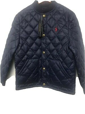 New With Tags Polo Ralph Lauren Quilted Boys Jacket.age 6yrs.£129.Navy