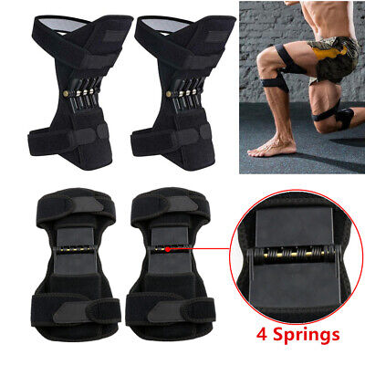 Patella Knee Booster Spring Brace Support Mountaineering Squat Sport Gym Fitness