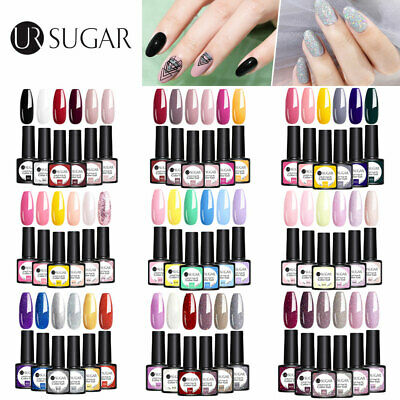 UR SUGAR 7.5ml 6Pcs/set Gel Polish Colorful UV LED Lamp Soak Off UV Gel Nail Art