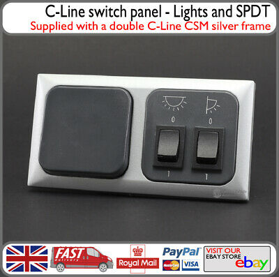 C-Line Switch Panel Lights Awning Lights PowerOn Off Switch Motorhome Camper Van