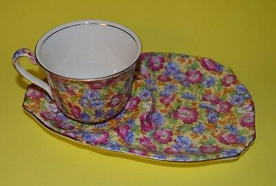 Royal Winton Royalty Chintz  England Tea Biscuit Tennis Set Tea Cup - Saucer #2
