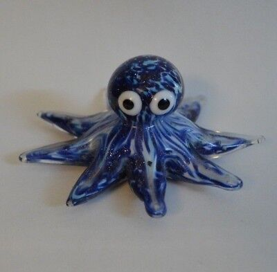 """Murano Multi-Colored Solid Glass 3.5"""" Octopus paperweight"""