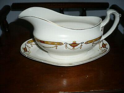 Bridgwood England Surret GRAVY Boat with Plate Saucer