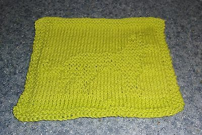 Brand New German Shepherd Green Knit Dish Cloth 4 Cocker Spaniel Rescue Charity