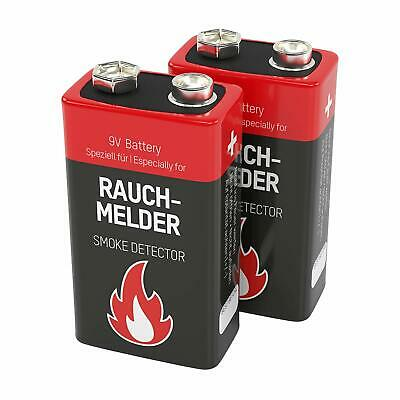 Smoke Detector Battery Replacement Pack Of 2 Square 9V E Block Batteries For Smo