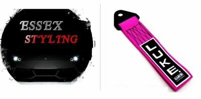 LUKE Tow Strap Rope Towing Eye Pull Hook Track Car - Pink New In