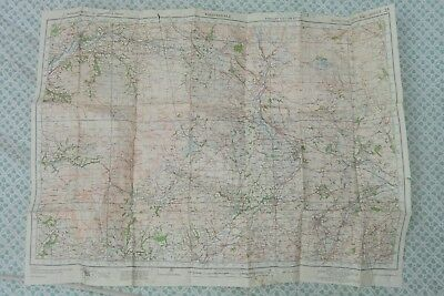 """England 1"""" OS Map, Ribblesdale, War Revision 1940 Miitary Grid"""