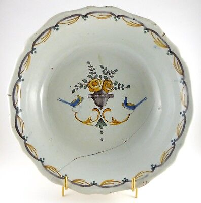 Faience Nevers or Centre - Bowl - 17th 18th / XIX Th Restoration Antique