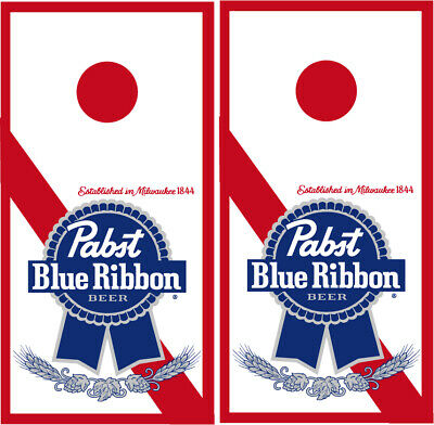 Pabst Blue Ribbon Cornhole Wraps PBR Board Vinyl Decals Beer Game
