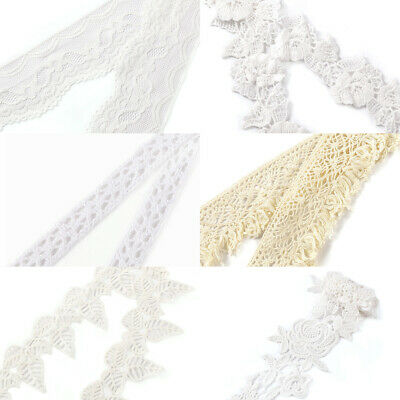 Vintage Antique White/Beige Lace Ribbon Wedding Trim Bridal Shabby Dress DIY New