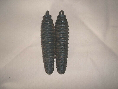 Black Forest German Cast Iron Pine cone Cuckoo Clock weights only