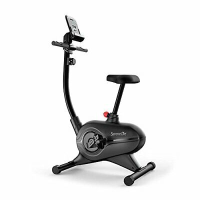 SereneLife Exercise Bike - Upright Stationary Bicycle Cardio Cycle Pedal