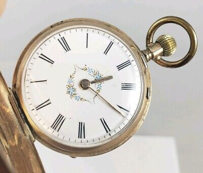 Beautiful Antique Miniature May & Son Locle Detailed Engraving Pocket Watch