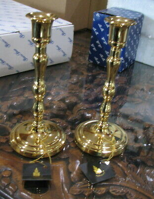 New Partylite Barclay Solid Brass Candlestick Holders, Set Of Two
