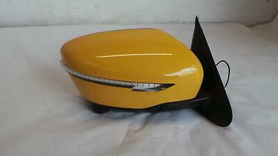 NISSAN JUKE drivers door mirror in yellow with camera and indictor