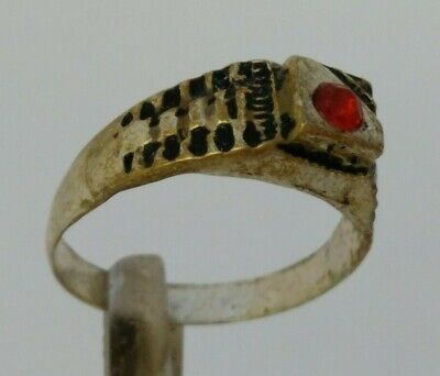 Extremely Rare Ancient Roman Ring Silver Color Amazing Rare Type