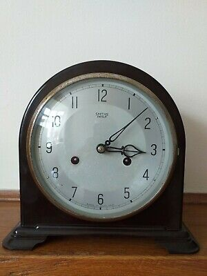 Antique Smiths Enfield Bakelite Mantel Clock In very Good Condition working.