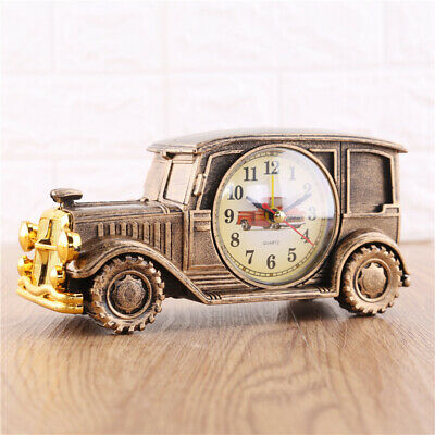 Vintage Car Alarm Clock Multi-functional Pencil Vase Antique Simulation Clocks