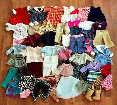 """Huge Lot Doll Clothes & Shoes  For 18"""" Dolls, Fits American Girl, Our Generation"""