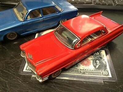 Near Mint 1960'S Friction Bandai Red Cadillac Investment Grade