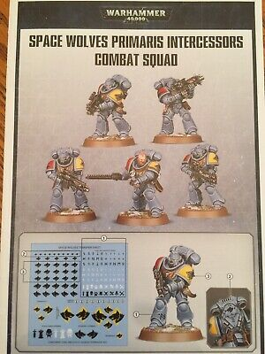 Warhammer 40k Space Marine Primaris Intercessor Squad Space Wolves X5