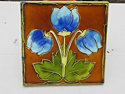 Really Lovely English  Tile  circa.1905 ........................ (tube lined ??)